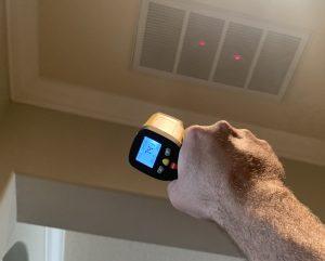 Tarpon Springs Home Watch checking temperature