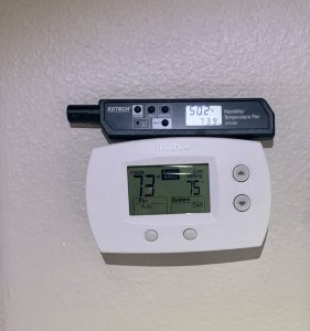 tarpon springs checking thermostat temperature
